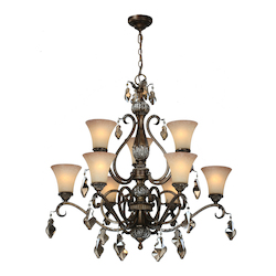 Artcraft Vienna 9 Light  Bronze Chandelier