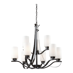 Artcraft Russell Hill 9 Light  Oil Rubbed Bronze Chandelier