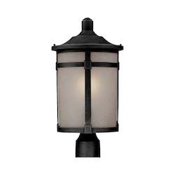 Artcraft St. Moritz 1 Light  Black Outdoor Post Light