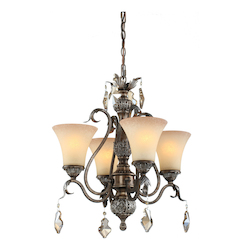 Artcraft Vienna 4 Light  Bronze Chandelette