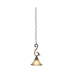 Artcraft Florence 1 Light  Bronze Pendant