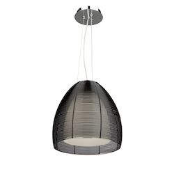 Artcraft San Jose 1 Light Pendant in Black
