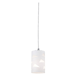 Artcraft One Light Opal And Clear Glass Down Mini Pendant