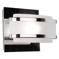 Artcraft One Light Chrome Frosted Glass Vanity