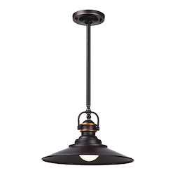 Artcraft Heath 1 Light  Bronze Pendant