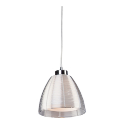 Artcraft San Jose 1 Light  Silver Pendant