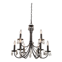 Artcraft Terramo 9 Light  White Chandelier