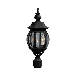 Artcraft Classico 3 Light  Black Outdoor Light