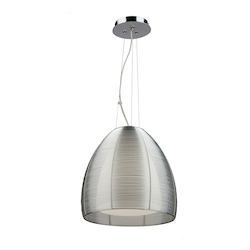 Artcraft San Jose 1 Light Pendant in Silver