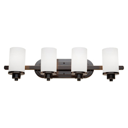 Artcraft Parkdale 4 Light  Oil Rubbed Bronze Bathroom Light