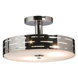Artcraft Seattle 3 Light  Chrome Semi Flush