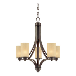 Artcraft Open Box Parkdale 5 Light  Oil Rubbed Bronze Chandelier
