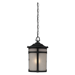 Artcraft St. Moritz 1 Light  Black Outdoor Pendant Light