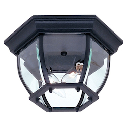 Artcraft Two Light White Clear Glass Outdoor Flush Mount