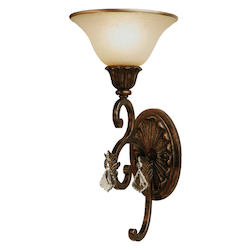 Artcraft Florence 1 Light  Oiled Bronze Wall Bracket