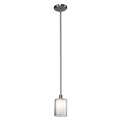 Artcraft Andover  1 Light  Polished Nickel Pendant