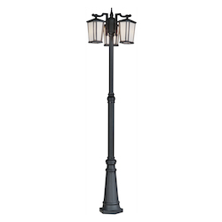 Artcraft Hampton 3 Light  Black Outdoor Light