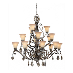 Artcraft Vienna 18 Light  Bronze Chandelier
