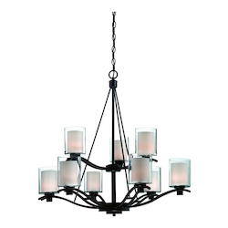Artcraft Andover  9 Light  Oil Rubbed Bronze Chandelier