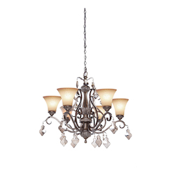 Artcraft Vienna 6 Light  Bronze Chandelier