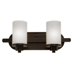 Artcraft Parkdale 2 Light  Oiled Bronze Bathroom Vanity