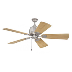 Craftmade Brushed Nickel Custom Blade Options 44in. 5 Blade Indoor Ceiling Fan