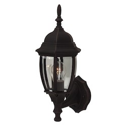 Craftmade Bent Glass Collection Outdoor Wall Sconce In Rust