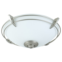 Craftmade Brushed Nickel Modern Metal Rim Bowl Kit with CFL Bulbs Included