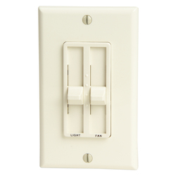 Craftmade Almond Three Speed Fan and Light Wall Control with Dimmer