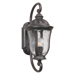 Craftmade Oiled Bronze Frances 1 Light Outdoor Wall Sconce - 8 Inches Wide