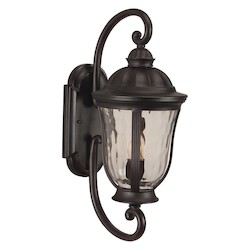 Craftmade Oiled Bronze Frances 2 Light Outdoor Wall Sconce - 9.5 Inches Wide
