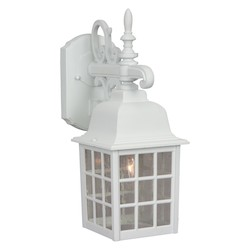 Craftmade Wall Lanterns With Beveled Glass Shades, Black