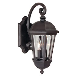 Craftmade Oiled Bronze Britannia 2 Light Outdoor Wall Sconce - 8 Inches Wide