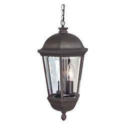 Craftmade Oiled Bronze Britannia 3 Light Outdoor Pendant - 12 Inches Wide