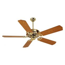 Craftmade Craftmade Cxl52Pb Cxl 5 Blade Ceiling Fan In Polished Brass