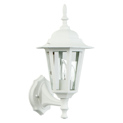 Craftmade 1 Light Small Up Lighting Outdoor Wall Sconce In Matte White