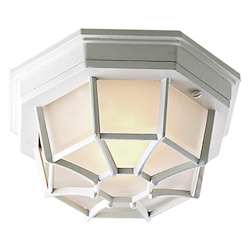 Craftmade Open Box Matte White Bulkheads 1 Light Outdoor Ceiling Fixture