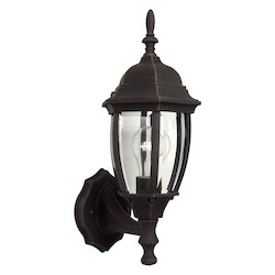 Craftmade Bent Glass Small Up Lighting Outdoor Wall Sconce In Rust