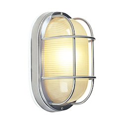 Craftmade Marine Light With Frosted Halophane Glass Shades, Stainless Steel Finish