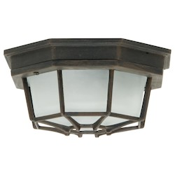 Craftmade Marine Light With Frosted Glass Shades, Rust Finish