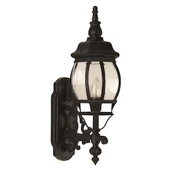 Craftmade Matte Black French Style 1 Light Outdoor Wall Sconce - 6.5 Inches Wide