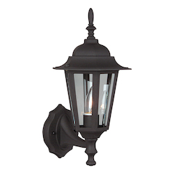 Craftmade Matte Black Hex 1 Light Outdoor Wall Sconce - 8 Inches Wide