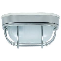 Craftmade Marine Light With Frosted Halophane Glass Shades, Nickel Finish