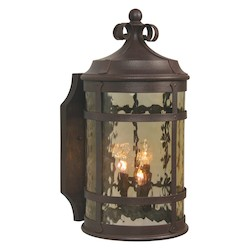 Craftmade Rustic Iron España 2 Light Outdoor Wall Sconce - 8.3 Inches Wide