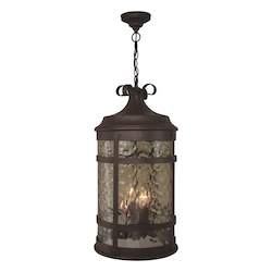 Craftmade Rustic Iron España 4 Light Lantern Pendant - 11.87 Inches Wide