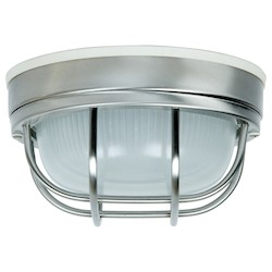 Craftmade Bulkhead 1 Light Outdoor Flushmount In Stainless Steel
