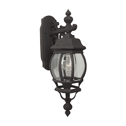 Craftmade Matte Black French Style 1 Light Outdoor Wall Sconce - 8 Inches Wide