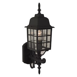 Craftmade Matte Black Grid Cage 1 Light Outdoor Wall Sconce - 6 Inches Wide
