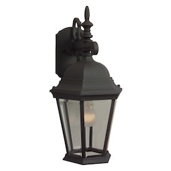 Craftmade Matte Black Straight Glass 1 Light Outdoor Wall Sconce - 9.5 Inches Wide