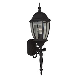 Craftmade Matte Black Bent Glass 1 Light Outdoor Wall Sconce - 9.5 Inches Wide